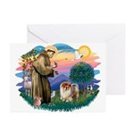 St Francis #2/ Chow (B) Greeting Cards (Pk of 10)