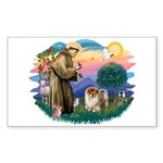 St Francis #2/ Chow (B) Sticker (Rectangle)