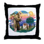 St Francis #2/ Chow (B) Throw Pillow