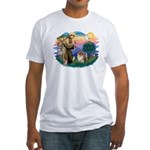 St Francis #2/ Chow (B) Fitted T-Shirt