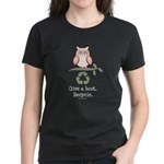 Give A Hoot Recycle Women's Dark T-Shirt