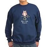 Give A Hoot Recycle Sweatshirt (dark)