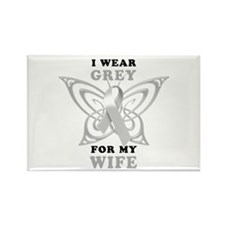 I Wear Grey for my Wife Rectangle Magnet