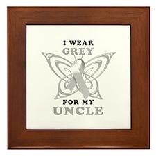 I Wear Grey for my Uncle Framed Tile