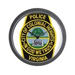 Colonial Heights Police Wall Clock