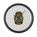 Colonial Heights Police Large Wall Clock