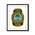 Colonial Heights Police Framed Panel Print