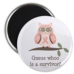 Pink Ribbon Owl Survivor Magnet