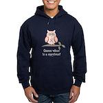 Pink Ribbon Owl Survivor Hoodie (dark)