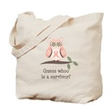 Pink Ribbon Owl Survivor Tote Bag