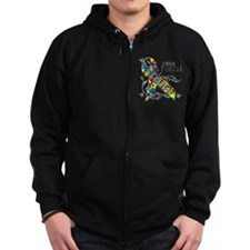 I Wear A Puzzle for my Nephew Zip Hoodie
