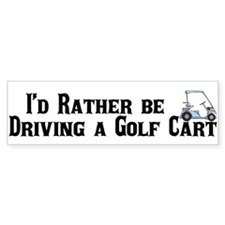Golf Cart Bumper Bumper Sticker