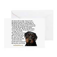 Only Thing, Rottweiler Greeting Cards (Pk of 20)