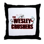 Wesley Crushers Throw Pillow - Be a part of the best bowling team for geeks - The Wesley Crushers! This merchandise will make a bang with your friends. A big one. In theory.
