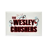 Wesley Crushers Rectangle Magnet (100 pack) - Be a part of the best bowling team for geeks - The Wesley Crushers! This merchandise will make a bang with your friends. A big one. In theory.