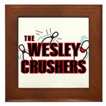 Wesley Crushers Framed Tile - Be a part of the best bowling team for geeks - The Wesley Crushers! This merchandise will make a bang with your friends. A big one. In theory.