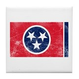 Vintage TN State Flag Tile Coaster