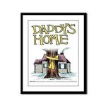 Daddy's Home Yellow Ribbon Framed Panel Print
