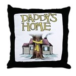 Daddy's Home Yellow Ribbon Throw Pillow