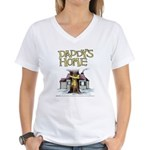 Daddy's Home Yellow Ribbon Women's V-Neck T-Shirt