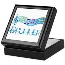 Colorful Music Drummer Keepsake Box