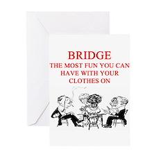 duplicate bridge player joke Greeting Card