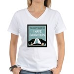 I have Daughters Women's V-Neck T-Shirt