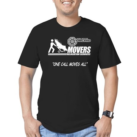 Orchid Movers LOST Black Mens Fitted Dark T-Shirt