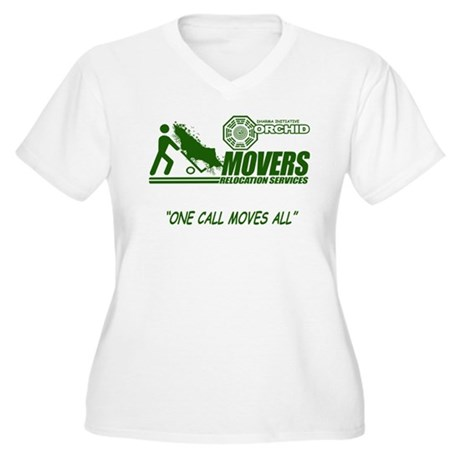 Orchid Movers LOST Womens Plus Size V-Neck T-Shir