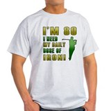 80th Birthday Golf Humor T-Shirt