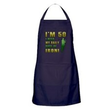 50th Birthday Golf Humor Apron (dark)