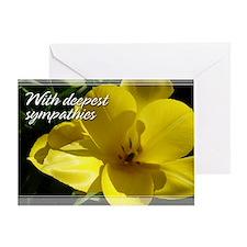 Yellow Tulip Sympathy Card 5x7