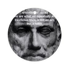Greek Education Aristotle Ornament (Round)