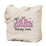 Tiara 40th Birthday Queen Tote Bag