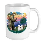 St Francis #2/ Bichon (2) Large Mug