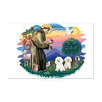 St Francis #2/ Bichon (2) Mini Poster Print
