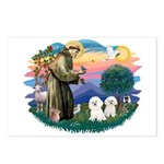 St Francis #2/ Bichon (2) Postcards (Package of 8)
