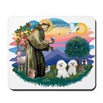 St Francis #2/ Bichon (2) Mousepad