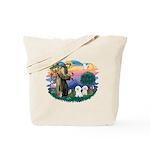 St Francis #2/ Bichon (2) Tote Bag