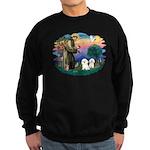St Francis #2/ Bichon (2) Sweatshirt (dark)