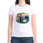 St Francis #2/ Bichon (2) Jr. Ringer T-Shirt