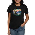 St Francis #2/ Bichon (2) Women's Dark T-Shirt