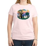St Francis #2/ Bichon (2) Women's Light T-Shirt