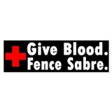 Blood Donation Bumper Bumper Sticker