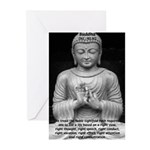 Buddha Education of Mind Greeting Cards (Package o