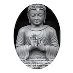 Buddha Education of Mind Oval Ornament