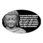 Buddha Education of Mind Oval Sticker