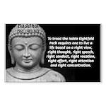 Buddha Education of Mind Rectangle Sticker