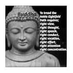 Buddha Education of Mind Tile Coaster