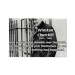 Churchill Fear of Truth Rectangle Magnet